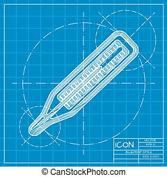 Vector blueprint icon