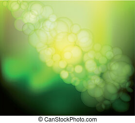 Vector Blur green Lights