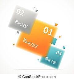 Vector blurred colorful text boxes, infographics