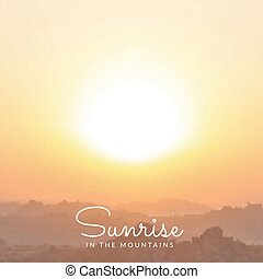 vector blurred mountains sunrise background
