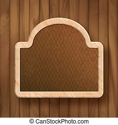 Vector Board Frame on Wood Wall