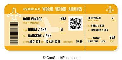 Vector boarding pass