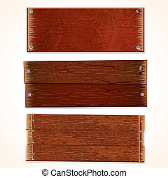 Vector Boards - Collection of Wooden Signs and Boards,...