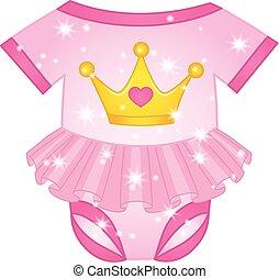Vector Bodysuit for Princess Baby Girl