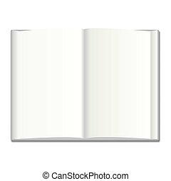 vector, boek, illustratie, leeg