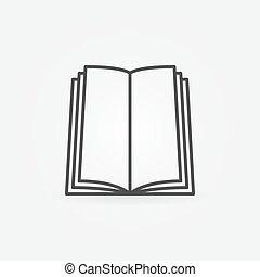 vector, boek, pictogram