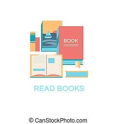vector, boekjes , illustratie