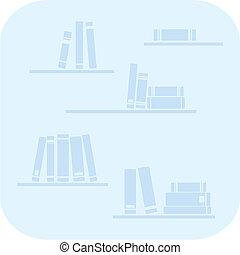 vector, boekjes , planken