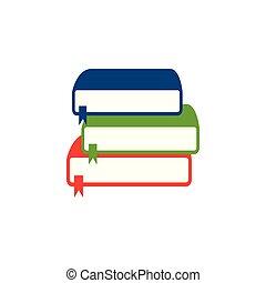 vector, boekjes , stapel, illustratie