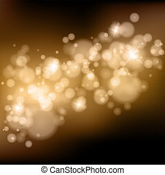Vector bokeh background. One click colorchange