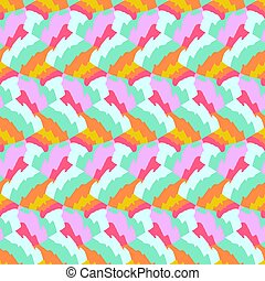 Vector bold color blocked pattern