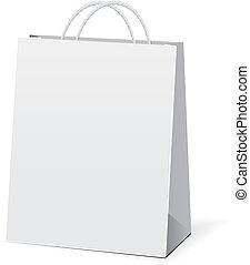 vector, bolsas, papel, compras