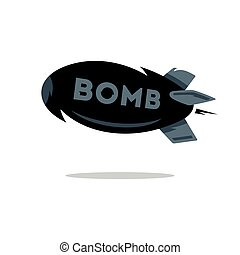 Vector Bomb Cartoon Illustration.