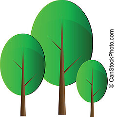 vector, bomen