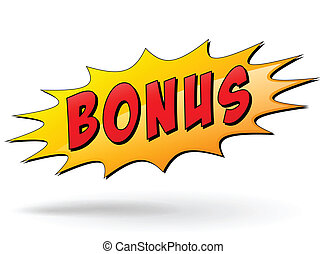 Vector bonus sign - Vector illustration of bonus starburst...