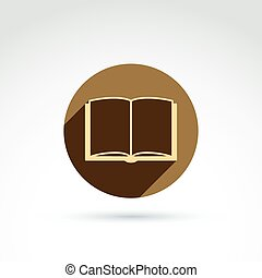 Vector book icon.