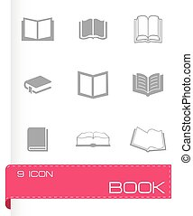 Vector book icons set