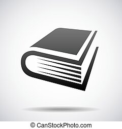 Vector book logo design template