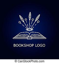 Vector book logo