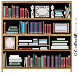 Vector bookcase - The set of vector elements of domestic...