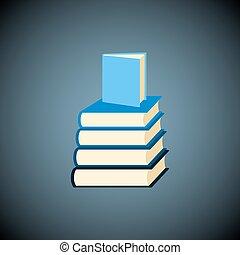 Vector books icon.