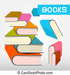 Vector Books Illustration