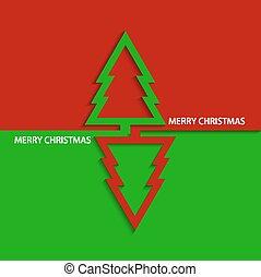 vector, boompje, moderne, kerstmis