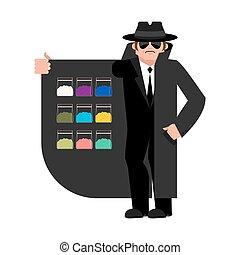 vector, bootlegger., isolated., cloak-seller, marijuana., ...