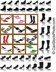vector boots (man , women)