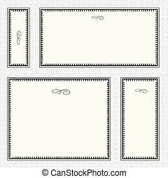 Vector Border Frame Set - Set of highly detailed vector...