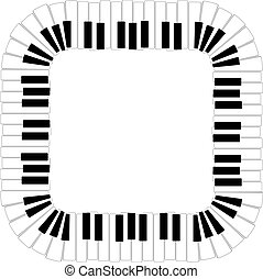 vector border of piano keyboard