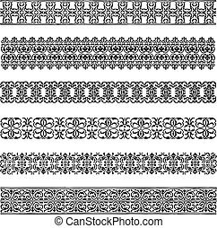 Vector Border Set. Easy to edit. Perfect for invitations or announcements.