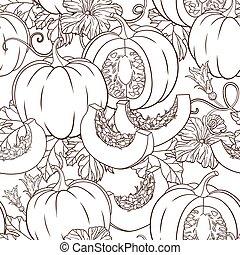 pattern with pumpkin