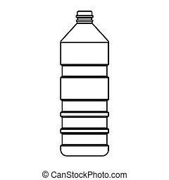 vector, botella