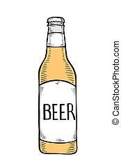 vector, botella de cerveza