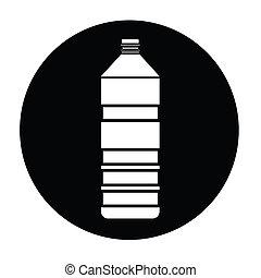 vector, botella, icono