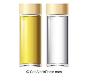 vector, botella, perfume