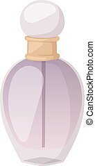 vector, botella, plantilla, perfume