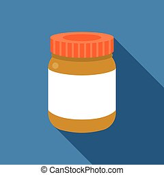 Vector bottle icon with blank label