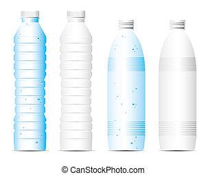 Vector bottle of water
