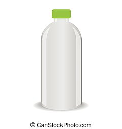 Vector bottle with shadow