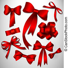 Vector bow collection. Red - Vector bow collection can be...