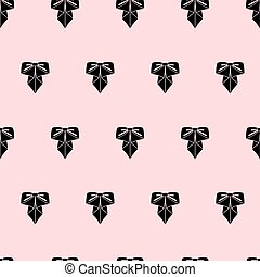 Vector bow pattern on pink background. Cute fashion illustration.
