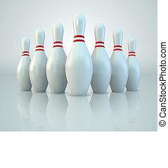 Bowling Pins - Vector Bowling Pins