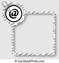 vector box for any text with email icon and paper clip