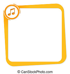 vector box for any text with music icon