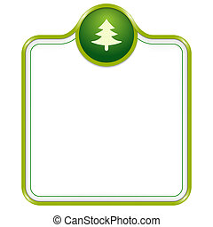 vector box for text with tree symbol