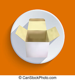 Vector box icon. Eps 10