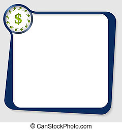 vector box with dollar sign and arrows