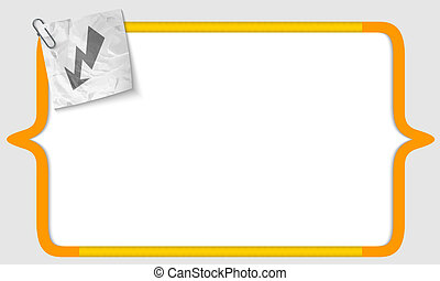 vector brackets with crumpled paper and flash